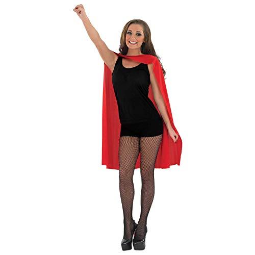 Kent Frauen Kostüm Superman Clark - Fun Shack Damen Costume Kostüm, Superhero Cape Red, Einheitsgröße