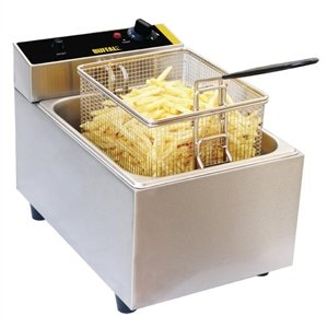 Heavy Duty Single Fryer 5Ltr - Restaurant Cafe Bistro Counter