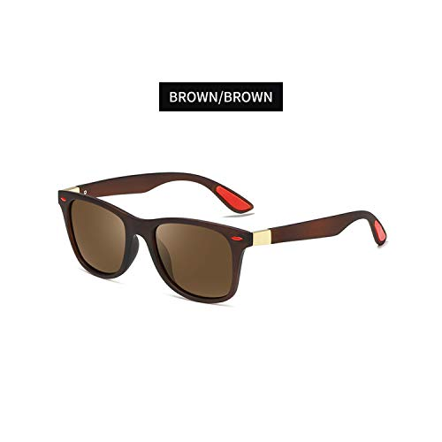 Golfbrille,BRAND DESIGN Classic Polarisiert Sunglasses Men Women Driving Square Frame Sun Glasses Male Goggle UV400 Gafas De Sol Sun Glasses C5 ()