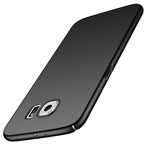 Avalri für Samsung Galaxy S6 Hülle, Ultradünne Handyhülle Hardcase aus PC Stoß- & Kratzfest Kompatibel mit Samsung Galaxy S6 (Glattes Schwarz)