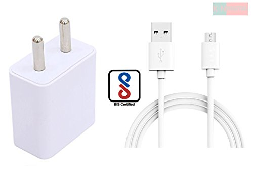 K N DIGITAL 2 Amp Mobile Charger For Alcatel OT-908F Charger Adapter Wall Charger Original Charger with 1.2M Micro Usb Data Sync Cable( 2 Amp White)