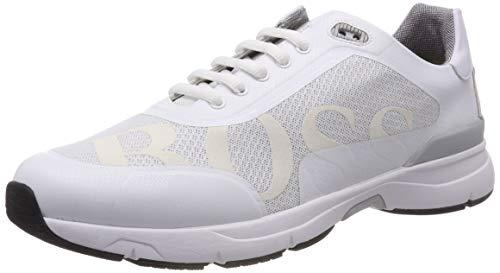 BOSS Athleisure Velocity_Runn_logo2, Scarpe da Ginnastica Basse Uomo, Bianco (White 100), 43 EU