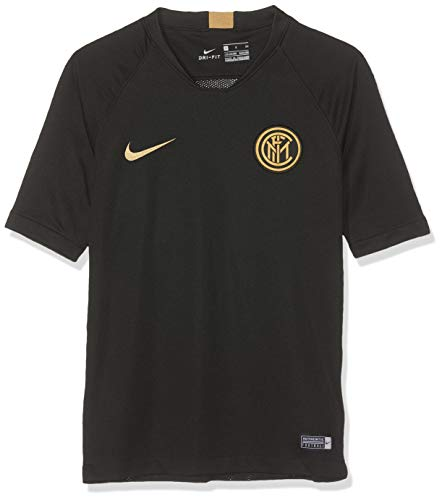 Milan Training Shirt (Nike 2019-2020 Inter Milan Training Football Soccer T-Shirt Trikot (Black) - Kids)