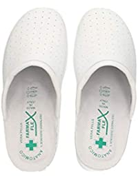 Farmaflex Pantofole sanitarie da Donna in Ecopelle Made in Italy Pantofole  Traspiranti Anatomiche comode e morbide 19ce82fd5a6