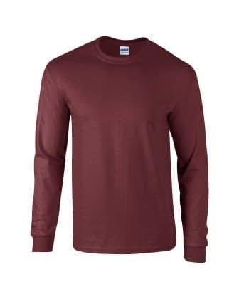 Gildan 2400 Ultra Cotton Adults Long Sleeve T-Shirt Maroon S