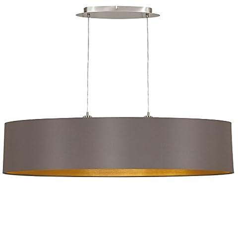 Eglo 31619Maserlo Dome Pendant Matte Nickel Light Shade Cappuccino/Gold Steel 100cm