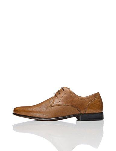 Find. Zapato Cordones Textura Piel Hombre, Marrón