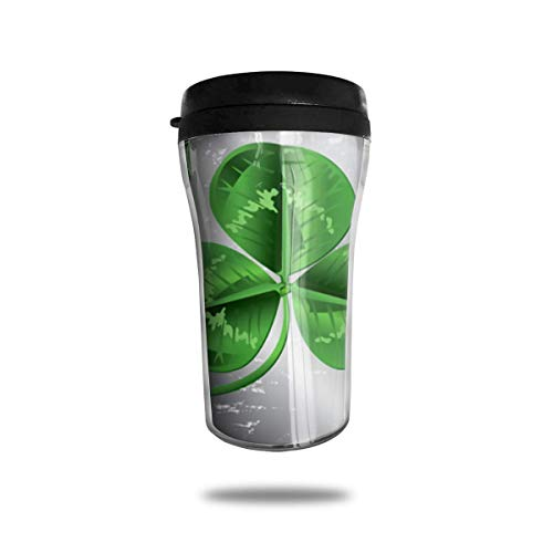 Wfispiy Irish Green Clover Patrick Theme Funny Stainless Steel Travel Coffee Mugs Cup with Leak Proof Lid 8 Ounces 8 Oz Irish Coffee Mug