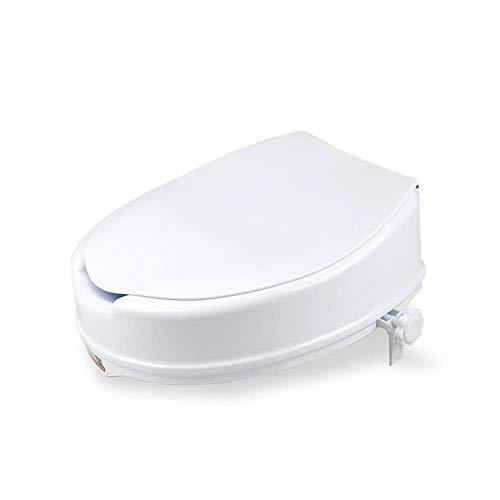 Hohe Qualität WC mit Armlehnen, erhöhter WC-Sitz mit Deckel, hoch erhöhter WC-Sitz verriegelt sich auf den meisten Toiletten tragbarer Sitz mit robusten Klammern Medizinische Hilfe für ältere Menschen -