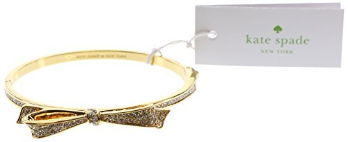 kate spade New York Love Notes Take A Bow Armreif Armband, Klar/Gold, Einheitsgröße