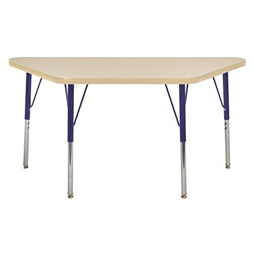"""ECR4Kids elr-14826-mmnv-ss Mesa t-mould 61x 121,9cm Trapez Aktivität Schule Tisch, Standard Beine W/Drehstuhl gleitet, höhenverstellbar 48,3cm-30"""""""