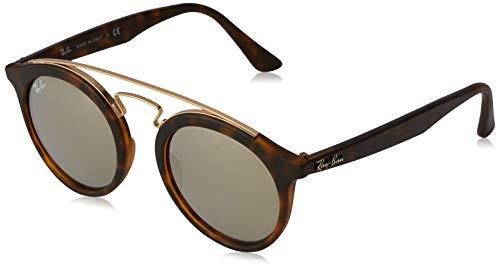 Ray Ban Unisex Sonnenbrille Gatsby I, Mehrfarbig (Gestell: Havana, Gläser: grau verspiegelt Silber 60926G), Medium (Herstellergröße: 49)