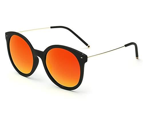 Yiph-Sunglass Sonnenbrillen Mode Zirkular polarisierte Sonnenbrille Retro Box (Lens Colour : Black Rimmed Red Film)