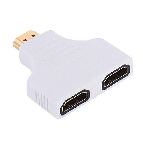 MagiDeal HDMI Switcher 2 Port AV Switch Selector Adapter Converter Splitter Hub HDTV Male to Female  available at amazon for Rs.455