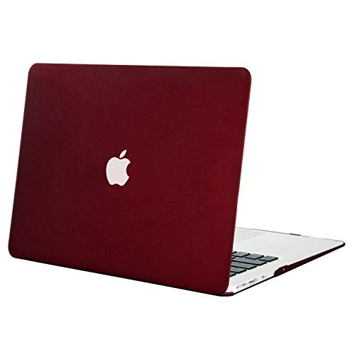 MOSISO Hülle Kompatibel MacBook Air 13 Hülle - Ultra Slim Hochwertige Plastik Hartschale Schutzhülle Shell Case Kompatibel MacBook Air 13 Zoll (A1369 / A1466, 2010-2017 Version), Marsala Rot
