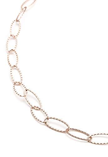 Heideman Halskette Damen Gliederkette aus Edelstahl Rosegold farbend matt Kette für Frauen mit Schmuck Collier für den besonderen Anlass 60cm