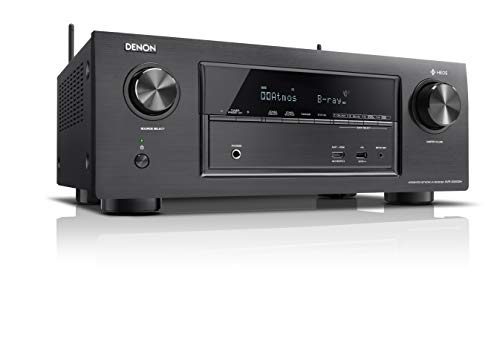 Denon AVRX3400H 7.2 Surround AV-Receiver (HEOS Integration, Dolby Vision Komtabilität, Dolby Atmos, dtsX, WLAN, Bluetooth, Amazon Music, Spotify Connect, HDMI Eingänge, 7x 180 W) schwarz