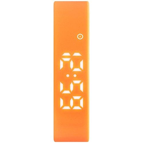 Sportuhr Weiblich Schüler Smart Schrittzähler Elektronische Uhr Männlich Multifunktional Wasserdicht Mit Wecker Vibrierend Armband,Orange (Herren-uhren Mit Gesicht Orange)