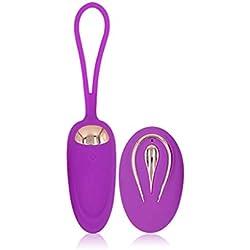 Hoxin Jouet de nouveauté pour les femmes Télécommande personnelle sans fil Vib multi-modes Puissant Bullet USB Rechargeable Étanche pour les femmes (PL)