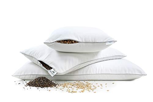 Almohada de Espelta 40 x 80 almohada cervical NATURECA almohada natural de c/áscara de espelta org/ánica almohada bio ortopedica