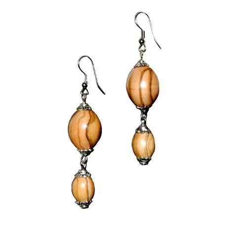 handmade-olive-wood-two-beaded-earrings-fair-trade
