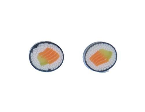 Sushi Ohrstecker Stecker Miniblings Ohrringe Essen Japan Maki Fisch Asien 3