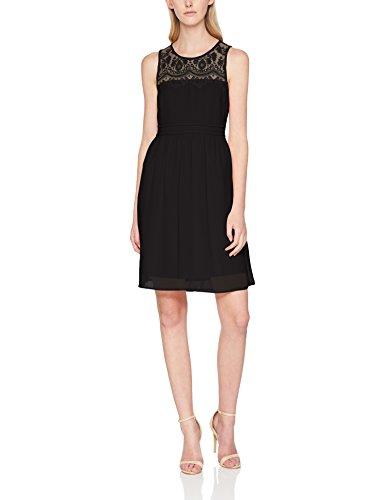 VERO MODA Damen Kleid Vmvanessa SL Short Dress Noos, Schwarz (Black Black), 34 (Herstellergröße: XS)