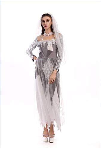 Kostüm Beängstigend Frauen - WARRT Halloween Kostüm Halloween Kleid Beängstigend Kostüme Für Frauen Geist Cosplay Kleid Böse Prinzessin Skelett Vampir des Kostüms Hexe m 12
