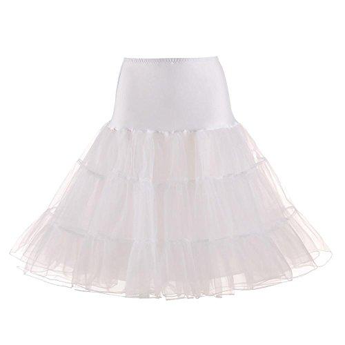 Damen Tutu Unterkleid Röcke , Petticoat Kleid 50er Rockabilly | Festliches Damenkleid | Blickdicht...