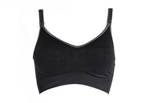 Mammae Comfort 3in1 - mitwachsender Schwangerschafts-BH, Still-BH und Sport-Still-BH in Grey Glamour 70A - 95G (XL) (Sport-still-bh)