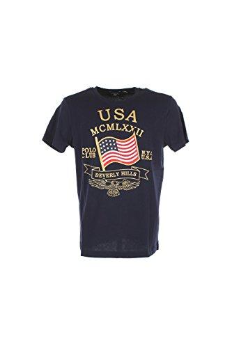 T-shirt Uomo Beverly Hills Polo Club Xl Blu Bhpc1882 Primavera Estate 2016