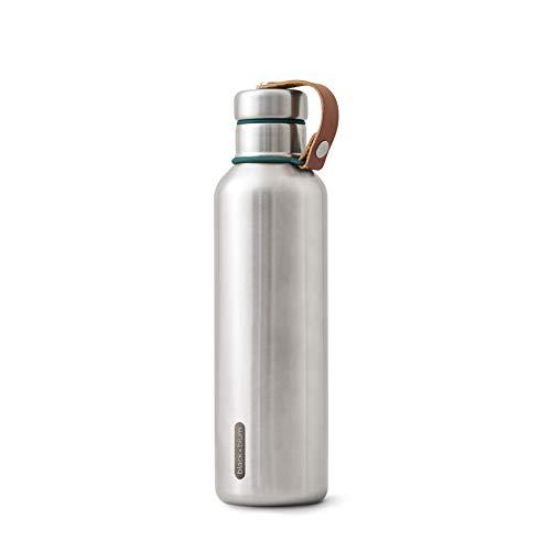 BLACK + BLUM Isolierte Wasserflasche Groß - Ozean, 750 ml Thermoflasche, Edelstahl/VeganLeder, L, 2