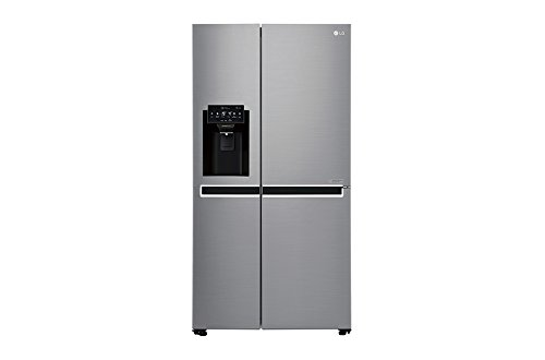 LG gsl761pzxv Freestanding 601L A + Stainless Steel Side-by-Side Refrigerator–Fridge Side-by-Side (Freestanding, Stainless Steel, LED, LED, R600a, Glass) Best Price and Cheapest