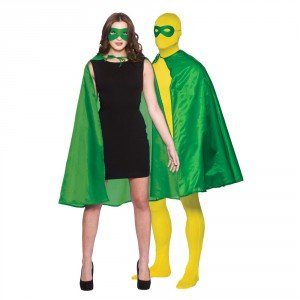 Grüne Superheld Fancy Dress Cape und (Superhelden Frauen)