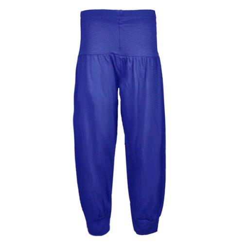 new-girls-harem-alibaba-pant-trouser-age-7-13-years-9-10-plain-blue