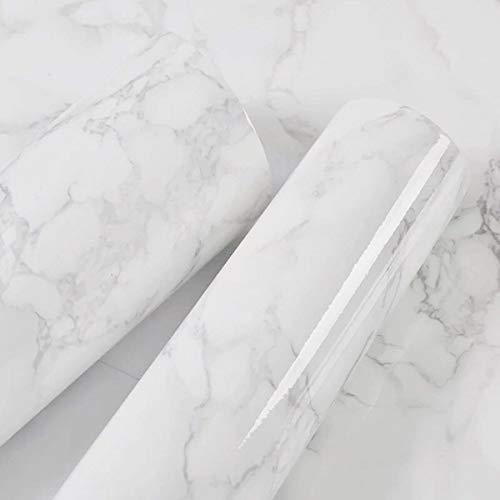40 cm x 300 cm Marmor Kontaktpapier weiß grau Granit Selbstklebende Vinylfolie Sticky Back Kunststoff Rolle Marmor Vinyl Arbeitsplatte abziehen und aufkleben Marmor Tapeten Deko Möbelaufkleber