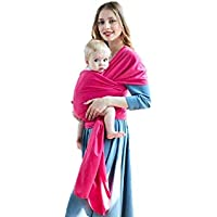 Baby Sling Wrap Soft and Breathable Lightweight Fits All Sizes Suitable from Birth to 35 Months for All Seasons