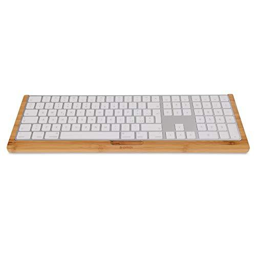 Esimen - Soporte de Madera para Teclado Apple Magic inalámbrico con Teclado numérico y Soporte para Teclado inalámbrico para iMac Pro Magic Numeric Keypad (Brich)