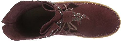 Laidback London Argo, Bottines non doublées femme Rouge - Rot (Burgundy Suede)