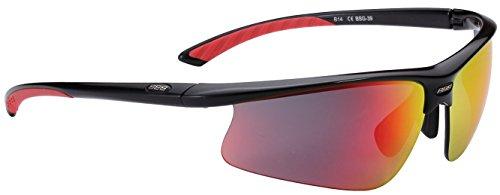 BBB Sportbrille Winner BSG-39 Sonnenbrillen, Schwarz, Rauchrote Mlc Gläser, STANDARD