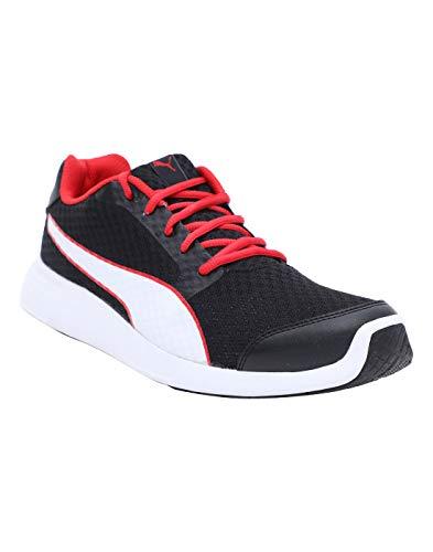 PUMA Men's Nocturnal IDP Black White-High Risk Red Sneakers-9 UK/India (43 EU) (4060979704732)