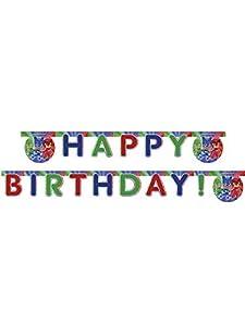 Procos - Guirnalda Happy Birthday Super Pijama Pj Masks, multicolor, PR87412