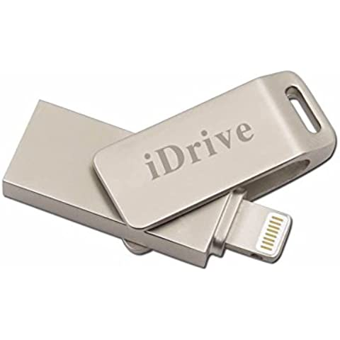 iDrive Mobile Cassettiera con connettore Lightning per iPhone 5, 5S, 5C,/Plus, 6S, 6S Plus–rapidamente metallo (1 File Cassettiera)