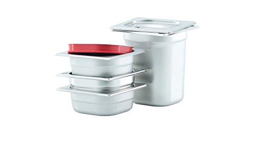 GVK ECO GN Behälter Gastronorm Behälter 1/6 65mm – 200mm Tiefe aus Edelstahl – ungelochte Behälter – oder Deckel