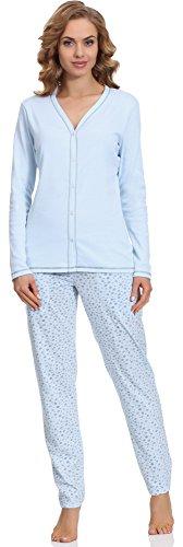 Italian Fashion IF Allaitement Pyjama Femme Liwia Mama 0223 Bleu