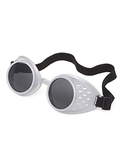Schweißerbrille silber keine (Alien Kostüm Komplettes Kind)