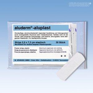 Söhngen 1009912 Nachfüllset aluderm®-aluplast Wundverbände für Pflasterspender 30 Strips 7,2 x -