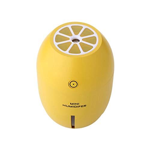 jingyuu Humidificador ultrasónico, Mini humidificador de limón USB para Dormitorio, Sala de Estar, Oficina(Amarillo)
