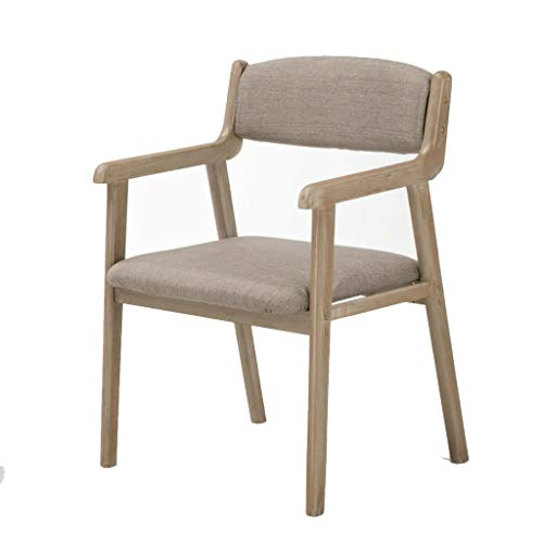Hykiss sedia da pranzo ufficio famiglia sedia in legno massello moderna poltrona da conferenza minimalista, set di 2 sedie da pranzo in legno nella cucina di famiglia in stile rovere (colore: legno)