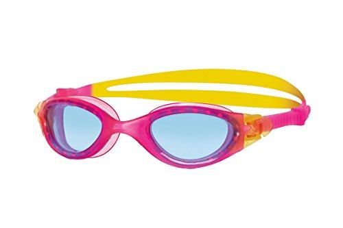 Zoggs Panorama - Gafas de natación, color rosa / amarillo, talla 6 - 14 años
